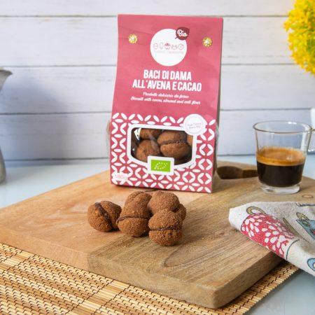 Baci di Dama con avena & cacao – 180gr