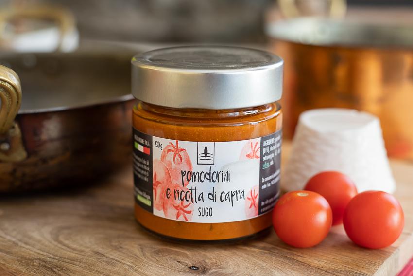 Sugo con Pomodorini & Ricotta di Capra – 230gr