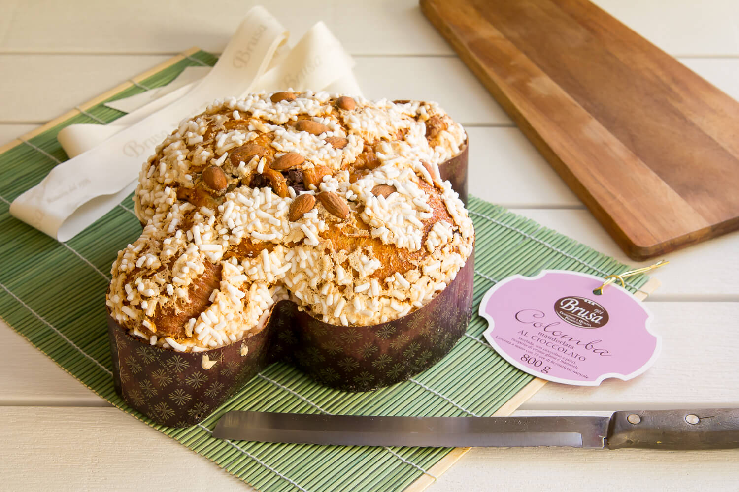 Glazed Colomba with almonds & chocolate chips – 800gr