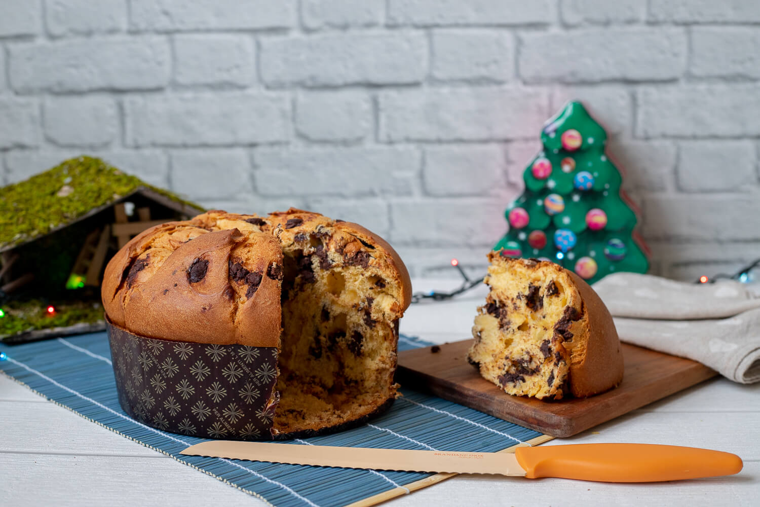 Panettone with chocolate chips – 800gr
