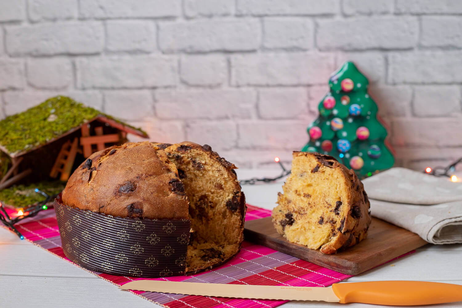 Panettone with figs and chocolate chips – 800gr