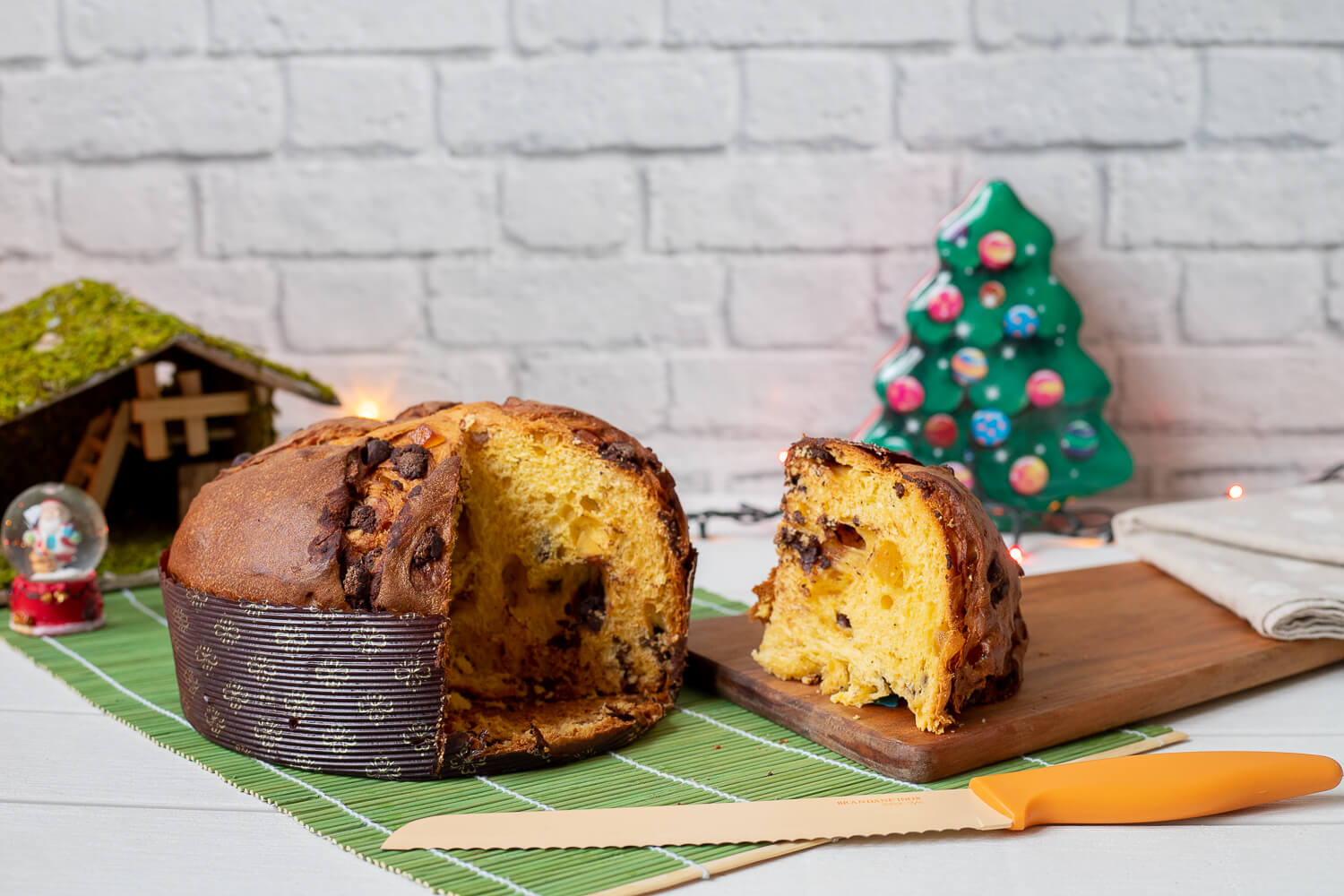 Panettone with pears and chocolate chips – 800gr