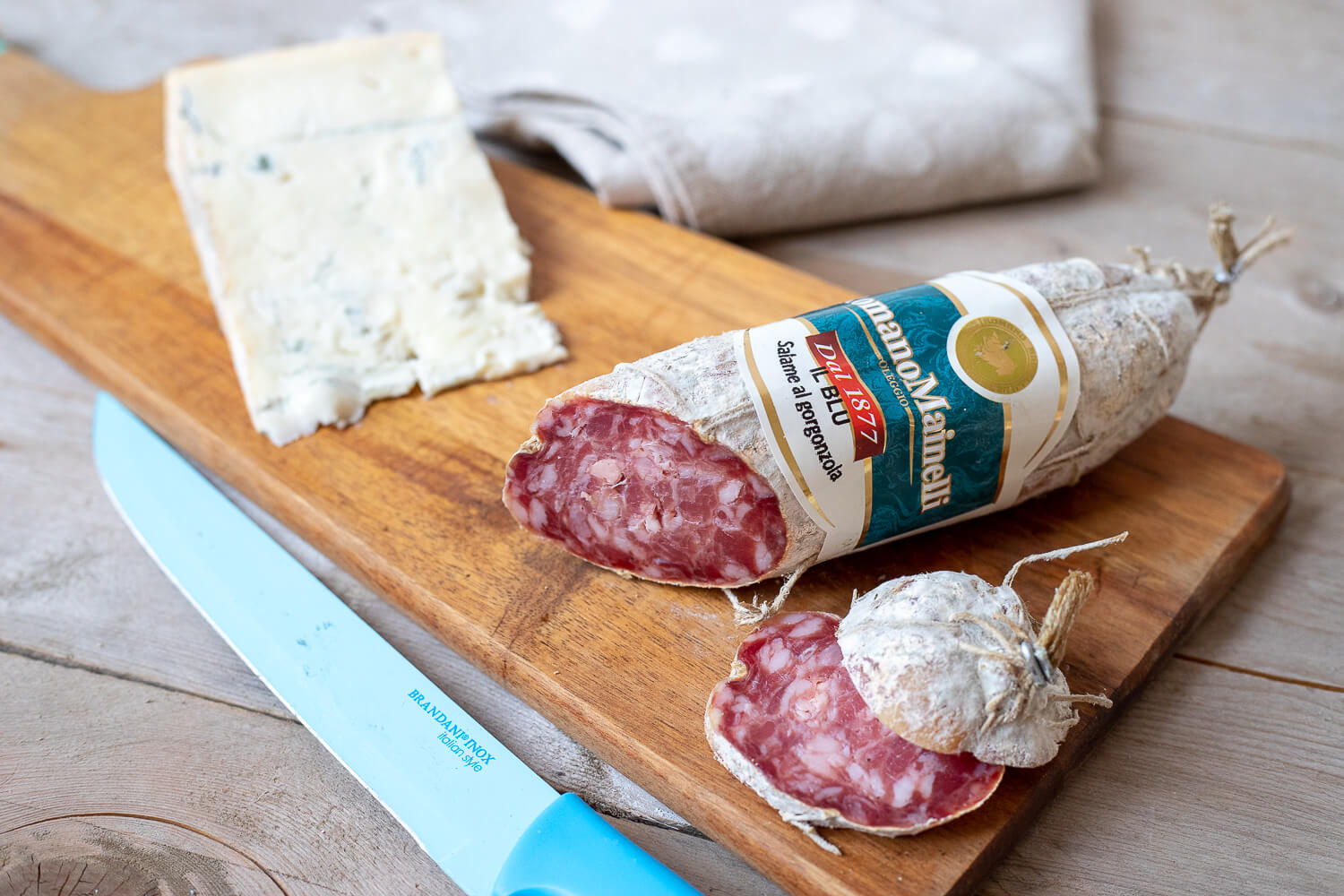 Salame italiano with Gorgonzola – circa 250gr