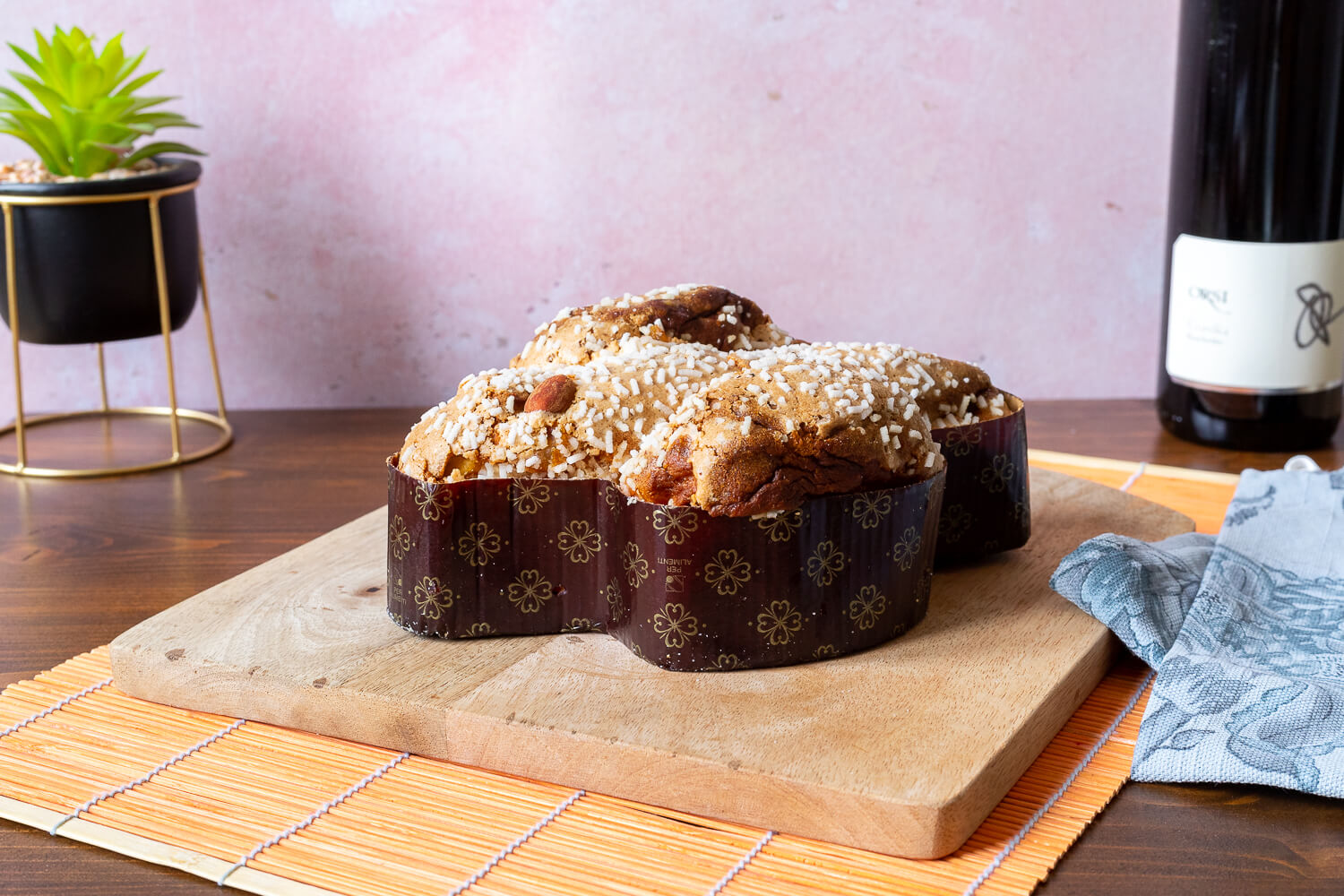 Gluten free Colomba with almonds & chocolate chips- 400gr