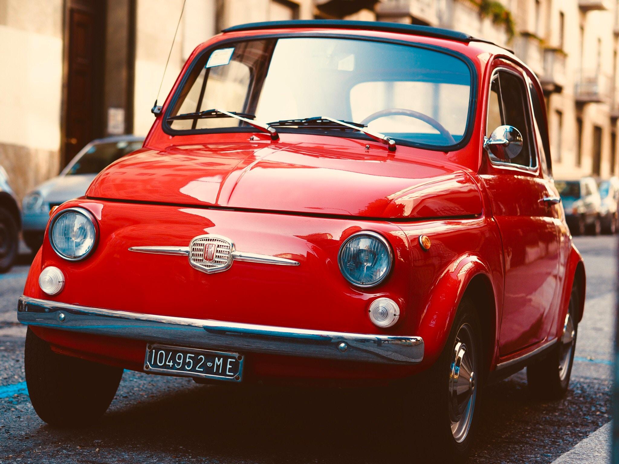 fiat-500-red-vintage-car