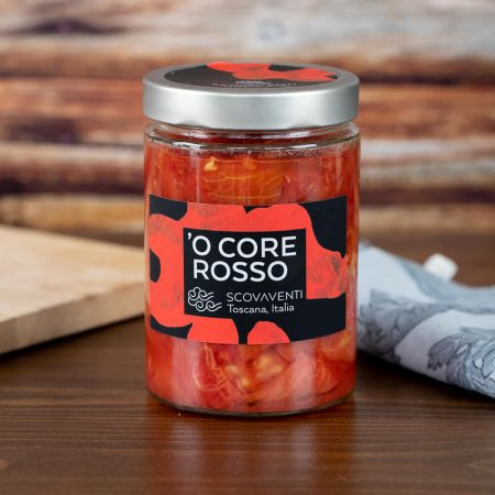 "Tomato peelings ""'O Core Rosso"""