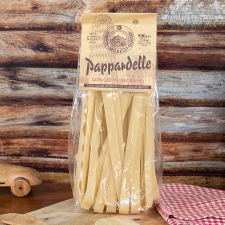 Pappardelle with wheat germ